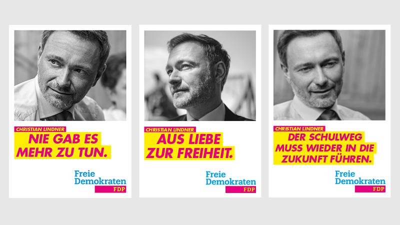 Kampagne zur Bundestagswahl: FDP stellt Plakate vor