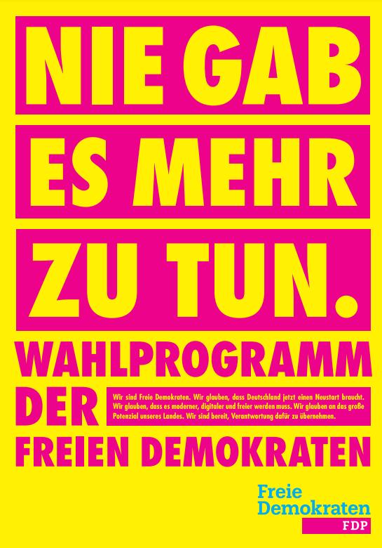 FDP stellt Programm zur Bundestagswahl vor